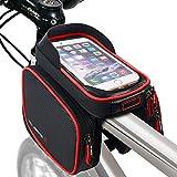 wheelup Wasserdicht Straßen-Fahrrad-Smartphone Tasche für Bike-Zubehör/TPU Touch Screen 6.2inch (Rot)