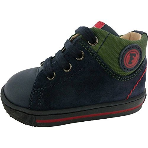 Falcotto scarpe bimbo unisex 1095 - Sneakers Falcotto by Naturino Holt Vitello/Cordura, Navy/Verde, Blu (18)