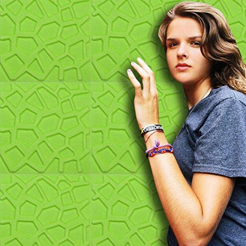Preisvergleich Produktbild sunnymi Wand Wandsticker Wandtattoo Für Kinderzimmer Babyzimmer Wandaufkleber Schlafzimmer/PE Schaum 3D Tapete DIY Mädchen Junge Wanddeko Baby Kinder (Unregelmäßiges Netz, grün)