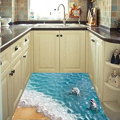 Huihong Wandaufkleber Wandtattoo Wandsticker,3D Starfish Strandboden / Wandaufkleber Abnehmbare Wandabziehbilder Vinyl Kunst Wohnzimmer Dekore (B)