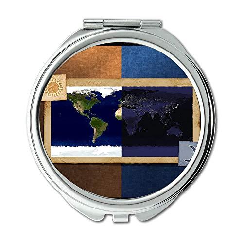 Yanteng Spiegel, Travel Mirror, Map Wallpaper Karte Australien, Taschenspiegel, Tragbare Spiegel - Haartrockner Australien Für
