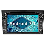 YINUO 7 Zoll 2 Din Android 7.1.1 Nougat 2GB RAM Quad Core Autoradio mit Bluetooth Moniceiver DVD GPS Navigation für OPEL Vauxhall Astra Antara Vectra Corsa Zafira Schwarz (Autoradio)