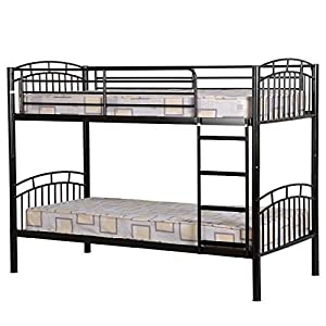 Seconique Ventura Metal Bunk Bed Frame, Black