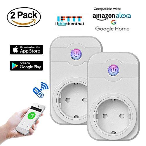 Annstory Wlan Steckdose Intelligente Smart Plug mit Fernsteuerung inkl Zeitsteuerung Energiesparfunktion Kompatibel mit Alexa Google Home mit App Steuerung überall und zu jeder Zeit -