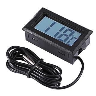 amazingdeal Digital Thermometer Elektronische Fisch Tank Luftfeuchtigkeit Hygrometer Meter Sensor schwarz