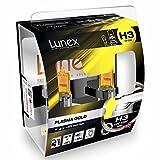 LUNEX H3 PLASMA GOLD 453 Scheinwerfer Halogenbirnen Lampen Gelb 12V 55W PK22s 2800K duobox (2 Stücke)
