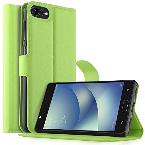 Asus ZenFone 4 Max Hülle, KuGi Asus ZenFone 4 Max ZC520KL Premium PU Leder Einschließlich rücksichtsvoller Gestaltung des magnetischen Teils Hülle Hülle Handyhülle für Asus ZenFone 4 Max ZC520KL Smartphone (Grün)