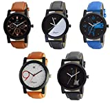 #9: Om Designer Combo of 5 Analogue Multi Color Dial Men's & Boy's Watch -Omi-Wtc0241