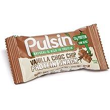 PULSIN Riegel Vanilla Choc Chip Protein Snack, 6er Pack (6 x 50 g)