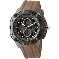 701-130 UphasE-Up Men's Watch Analogue and Digital Quartz Bracelet Brown Plastic