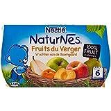 Naturnes Nichées Verger De Fruits (6 Mois) 4 X 130G - Paquet de 2