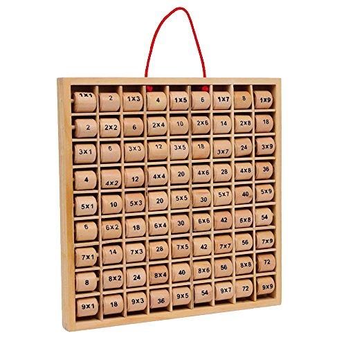 """Small Foot by Legler Multiplizier-Tabelle """"Rio"""" aus Holz, spielerisch das Einmaleins erlernen, drehbare Holzzylinder zeigen die Lösung und die Aufgabe an, ideales Training für Grundschüler und werdende Rechenprofis ab 7 Jahren"""
