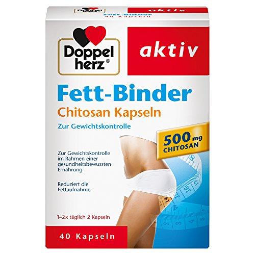 Doppelherz Fett-Binder mit Chitosan – Zur Gewichtskontrolle – 1 x 40 Kapseln