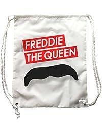 Zainetto Freddie The Queen, disegno baffi Mercury, musica Rock