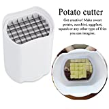 Swiftswan Chips di patate, patate Chopper vegetariano Best for French Fries Fette di mela - Potato Chips Waffle Maker