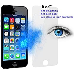 iLee Anti Radiation Eye Care Premium TEMPERED Glass Screen Protector For IPHONE 5 / 5S / 5SE