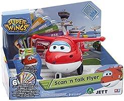 Giochi Preziosi Super Wings Aereo Personaggio Interattivo Jett, Gioco con Luci e Suoni