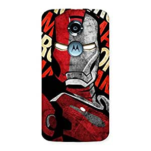 Delighted Introduction Man Back Case Cover for Moto X 2nd Gen