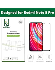 iProtekt Tempered Glass for Redmi Note 8 Pro (Curved) (9H) Glass with Edge to Edge Full Screen Coverage & Easy Installation kit (Pack of 1)