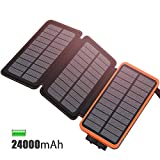 Best solar portable chargers - FEELLE Solar Charger 24000mAh, Portable Power Bank Review