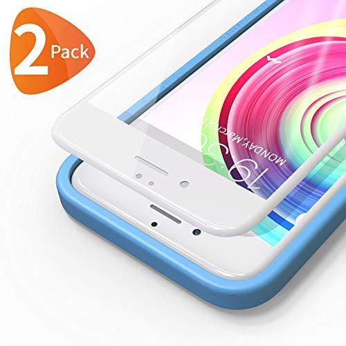 Bewahly für Panzerglas Schutzfolie für iPhone 6s / 6 [2 Stück], 3D Full Screen Panzerglasfolie 9H Härte Displayschutzfolie mit Installation Werkzeug für iPhone 6s / iPhone 6 (4,7 Zoll) - weiß - Set Iphone Screen 6 Protector
