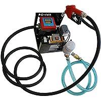 HELO DP60L + Filter Dieselpumpe Heizölpumpe 230V selbstansaugend, Tankstellen Set mit Olfilter, ca. 60l/min. Förderleistung, Treibstoffpumpe inkl. digitalem Zählwerk und automatischer Zapfpistole mit 4 Meter Druckleitung