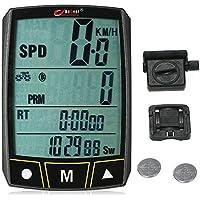 Lixada Bogeer Wireless / Wired Computer da Bicicletta Ciclismo Bike Cronometro Sensore Impermeabile con Display LCD Contachilometri Contachilometri Retroilluminazione a LED