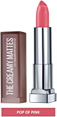 Maybelline New York Color Sensational Creamy Matte, 642 Pop of Pink, 3.9g
