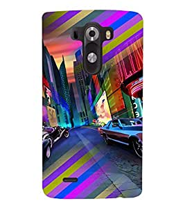PRINTVISA Abstract Car Case Cover for LG G3