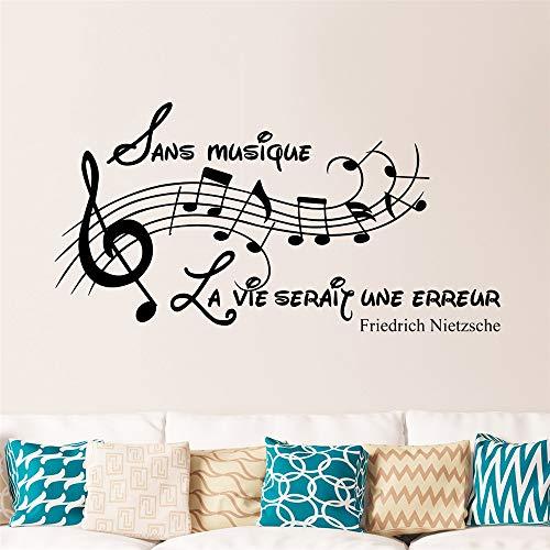 wandaufkleber k Sans Musique, La Vie Serait Une Erreur - Friedrich Nietzsche für Musik Zimmer Wohnzimmer