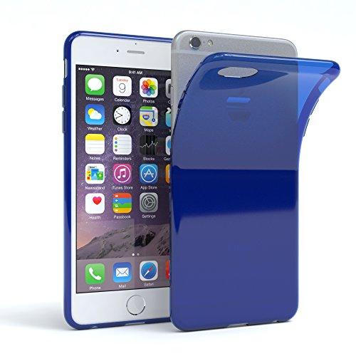 "Apple iPhone 6S / 6 Hülle, EAZY CASE Ultra Slim Cover ""Matt"" - Premium Handyhülle Transparente Schutzhülle, Smartphone Case in Transparent / Weiß Dunkelblau"