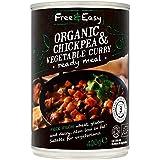 Free & Easy Libre De Orgánica De Garbanzos Y Verduras 400g De Curry (Paquete de 6)
