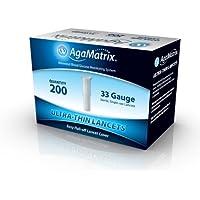 AgaMatrix Ultrathin Lancets 33G 200 Pack