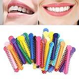 HERME 40Stück Dental Kieferorthopädische Ligatur Krawatten aus Elastomer zufällige Farbe