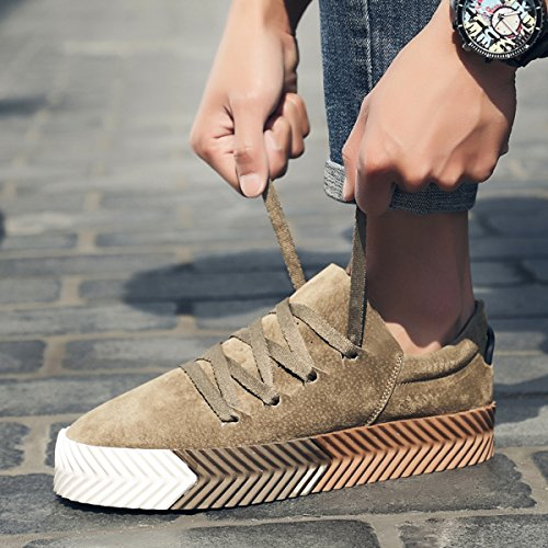 Miyoopark , Chaussures de ville à lacets pour homme Kaki