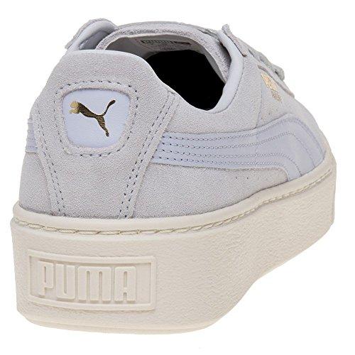 puma donna blu/bianco scamosciato platform sneaker