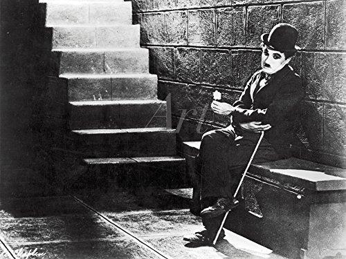 Artland Qualitätsbilder I Poster Kunstdruck Bilder 40 x 30 cm Film TV Stars Foto Schwarz Weiß B9JV Charlie Chaplin Lichter der Großstadt 1931 - Charlie Chaplin-film Poster
