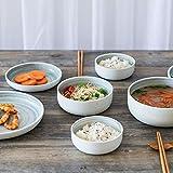 Vaisselle de plat coréen Creative Glaze Couleur Home en céramique Vaisselle Couverts Lot de 9Ensemble de têtes de...