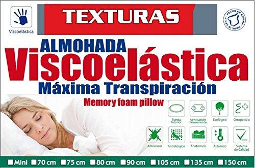 TEXTURAS HOME SECRET Almohada VISCOELASTICA Aloe Vera