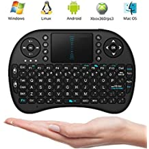Mini Wireless 2.4G Keyboard Touchpad Mouse Combo By ANTSIR for Google Android Smart TV Box (Black)