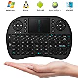Mini Wireless 2.4G Keyboard Touchpad Mouse Combo By ANTSIR for Google Android Smart TV Box(Black)