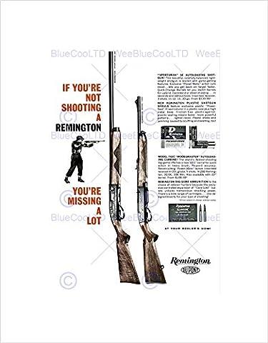 ADVERT GUN WEAPON SHOTGUN NRA HUNTING USA BLACK FRAMED ART PRINT B12X5891 (Hunting Shotgun)