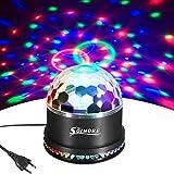 LED Discokugel,SOLMORE 51LEDs 12W Discolampe Partyleuchte RGB Lichteffekt Bühnenbeleuchtung Party Licht Deko