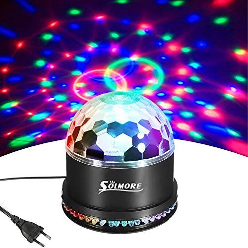 LED Discokugel,SOLMORE 51LEDs 12W Discolampe Partyleuchte RGB Lichteffekt Disco Bühnenbeleuchtung Party Licht Discolichteffekte Lampe Projektor DJ Party Licht Deko für Club Party Feier …