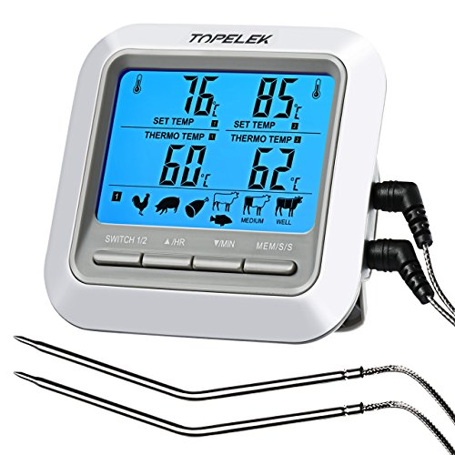 TOPELEK Thermometer Küche Digitales G...
