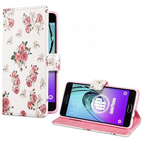 deinPhone Samsung Galaxy A3 (2016) Kunstleder Flip Case Blumengestecke Weiß