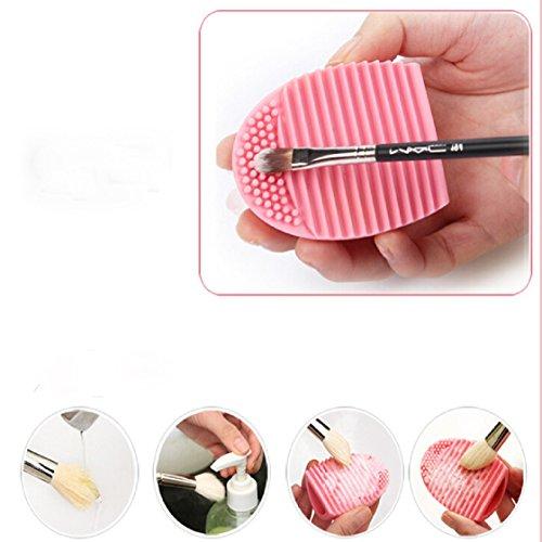 Vovotrade®Gant de nettoyage MakeUp brosse de lavage laveur Conseil cosmétique Clean(Rose)