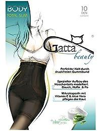 Gatta Body Total Slim – 10den – modellierende Strumpfhose für Bauch Hüfte Po & Oberschenkel Bodyforming mit Aloe Vera – hoher Tragekomfort