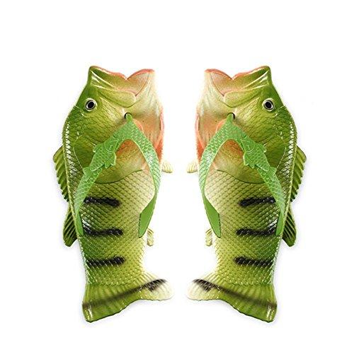 W&XY Hommes Slip On Slippers Douche dété Antidérapant Fish Sandals Salle de bains Pantoufles Plage Piscine Chaussures Douche Flip Flops Chaussures 39