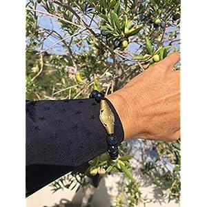 Ethnos Barcelona - Armband schwarz Onyx und golden Konto Afrika.